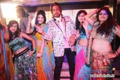 Shakti Kapoor along with dancers on location shoot of film Mumbai Can Dance Saala