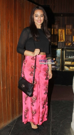 Sonakshi Sinha during the R Rajkumar film completion party