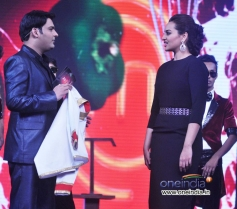 Sonakshi Sinha and Kapil Sharma on Junior MasterChef sets