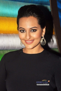Sonakshi Sinha poses with her cute smile during her film R... Rajkumar promotion