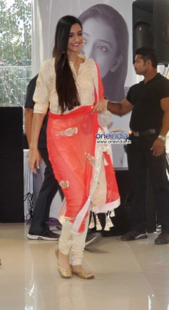Sonam Kapoor arrive at  the DVD launch of film Bhaag Milkha Bhaag