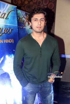 Sonu Nigam during the music launch of Hindi dubbed Japanese film The Mystical Laws