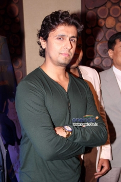 Sonu Nigam poses at the music launch of Hindi dubbed Japanese film The Mystical Laws
