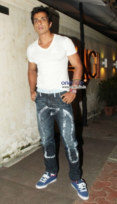 Sonu Sood during the R Rajkumar film completion party