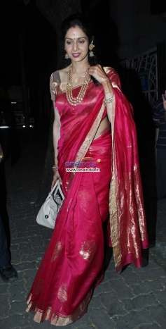 Sridevi Kapoor at her brother in law Anil Kapoor's residence