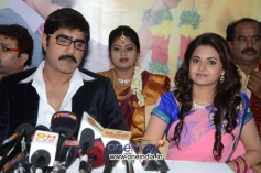 Srikanth, Manochitra at Malligadu Marriage Bureau Press Meet