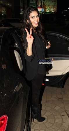 Sunny Leone snapped at a private party