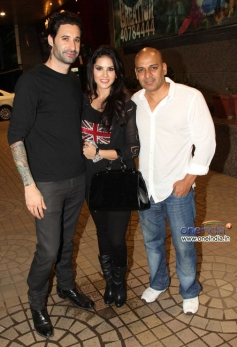 Sunny Leone snapped with Daniel Webber during an event
