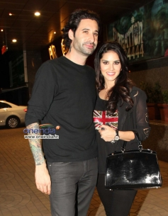 Sunny Leone snapped with Daniel Webber
