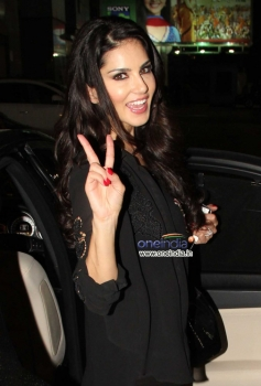 Sunny Leone spotted at a private event