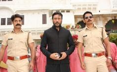 Sushant Singh, Jackie Shroff and Atul Kulkarni still from film Dirty Politics