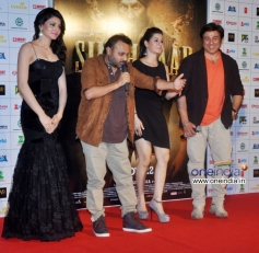 Urvashi Rautela, Anil Sharma and Sunny Deol at music launch of film Singh Saab The Great