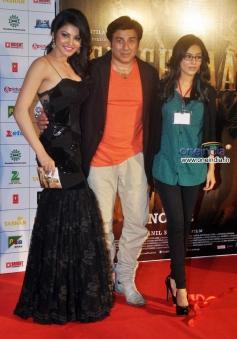Urvashi Rautela, Sunny Deol and Amrita Rao at music launch of film Singh Saab The Great