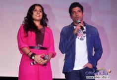Vidya Balan and Farhan Akhtar during the trailer launch of film Shaadi Ke Side Effects