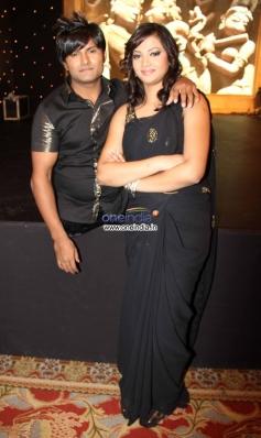 Vinod Thakur and his wife Raksha Thakur at Star Plus Nach Baliye 6 press meet