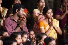 Vishal Krishna and Lakshmi Menon still from film Pandiya Nadu