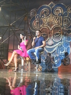 Aamir Khan and Katrina Kaif during the launch of title song of Dhoom 3