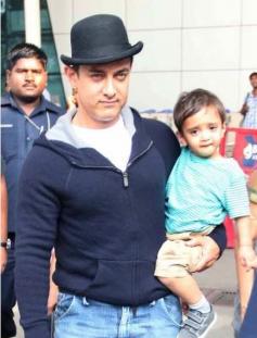 Aamir Khan takes his son Azad Rao for a stroll