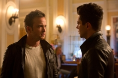 Aaron Paul and Dominic Cooper still from film Need for Speed