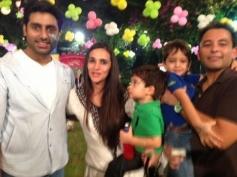 Abhishek Bachchan's daughter Aaradhya Bachchan birthday bash 2013