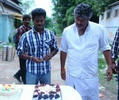 Ajith Kumar's Veeram Shoot Spot Assist Director Gokul Birthday celeberations