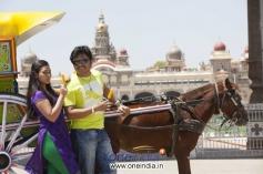 Amoolya and Ganesh in Kannada Film Sravani Subramanya