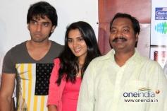 Anees Tejeswar, Sindhu Lokanath at Coffee with my Wife Film Press Meet