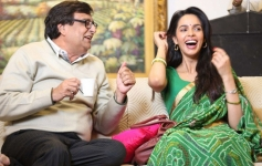 Bokadia and Mallika Sherawat still from on the sets of film Dirty Politics