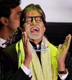 Bollywood Megastar Amitabh Bachchan during 19th Kolkata International Film Festival in Kolkata