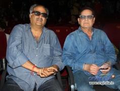Boney Kapoor and Salim Khan watches Sholay 3D film trailer