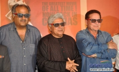 Boney Kapoor with Salim Khan and Javed Akhtar at Sholay 3D film trailer launch