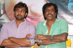 Chiranjeevi Sarja and Om Prakash Rao at Ayya 2 Film Press Meet