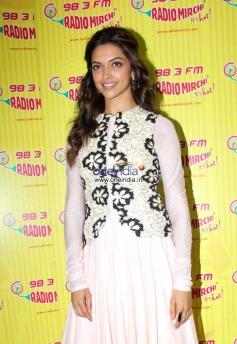 Deepika Padukone promotes Ram Leela film at Radio City