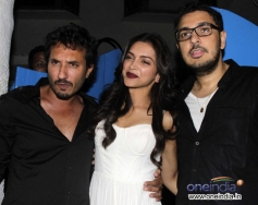 Deepika Padukone with Homi Adajani & Dinesh during the Finding Fanny Fernandez completion party