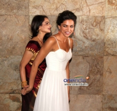 Deepika Padukone with Rekha at Special screening of film Ram Leela
