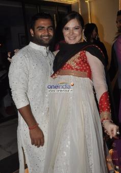 Hosts Sachiin Joshi and Urvashi Sharma aka Raina Joshi on Diwali