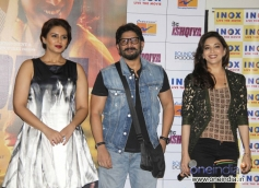 Huma Qureshi, Arshad Warsi and Madhuri Dixit at Dedh Ishqiya theatrical trailer launch