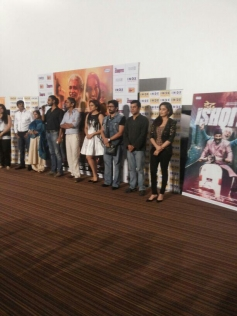 Huma Qureshi, Madhuri Dixit and Arshad Warsi at Dedh Ishqiya theatrical trailer launch