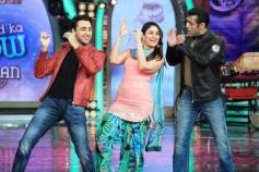 Imran Khan and Kareena Kapoor dance with Salman Khan on the sets of Bigg Boss 7