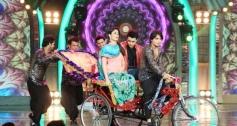 Imran Khan and Kareena Kapoor on the sets of Bigg Boss 7 for Gori Tere Pyaar Mein promotion