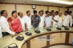 Jayamala, Sara Govind,  Puneeth Rajkumar at Film Chamber Celebrates Karnataka Rajyotsava