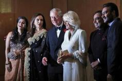 Kajol and Ajay Devgan with Prince Charles and Camilla