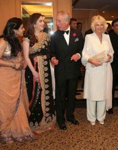 Kajol with Prince Charles and Camilla