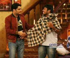Kapil Sharma on the sets of Comedy Nights with Kapil