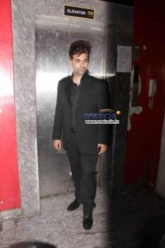 Karan Johar at Gori Tere Pyaar Mein Special Screening
