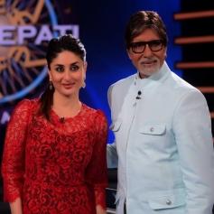 Kareena Kapoor and Amitabh Bachchan on sets of KBC 7