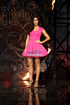 Katrina Kaif arrive at her film Dhoom 3 title song launch