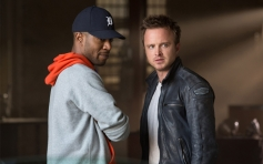 Kid Cudi and Aaron Paul still from film Need for Speed