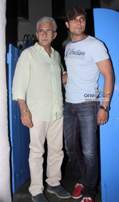 Naseeruddin Shah and Randeep Hooda at the Finding Fanny Fernandez completion party