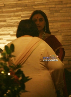 Pamela Chopra and Rani Mukerji at Aditya Chopra Diwali Bash 2013